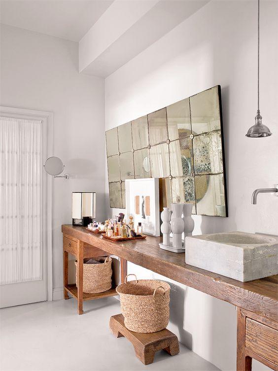 Estilo Ibicenco baño| Woodies