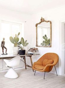 Decoración con cactus sobre mesa | Woodies