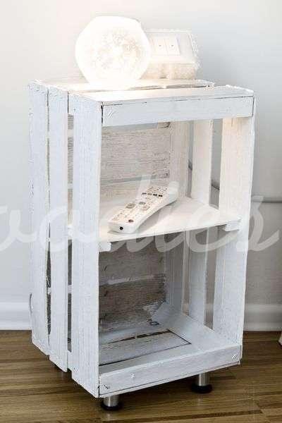 Mesa auxiliar de cajón de fruta | Woodies