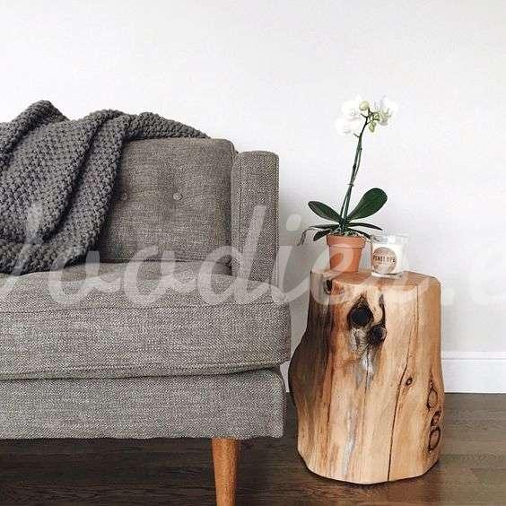 Mesa auxiliar de tronco | Woodies