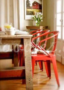 Silla industrial roja | Woodies
