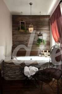 Baño rústico con contrastes | Woodies