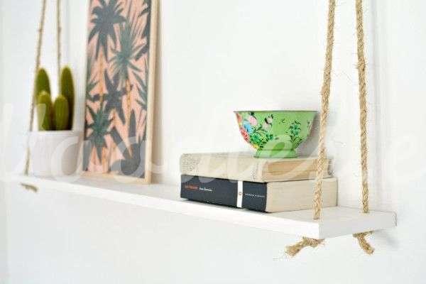 Cómo decorar tu casa con estanterías colgantes