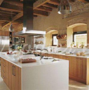 Casa de campo cocina de contraste   Woodies