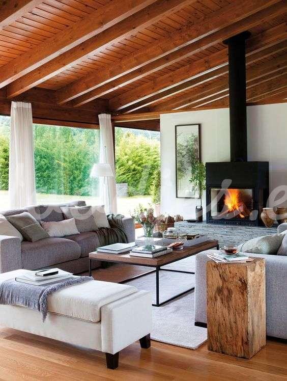 Casa de campo sal n blanco woodies woodies muebles - Salones de casas de campo ...