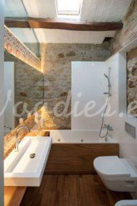 Casa de campo baño   Woodies
