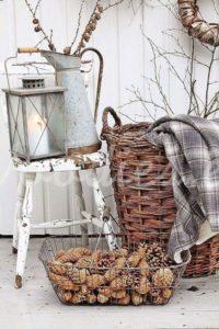 Decoración otoñal con piñas | Woodies