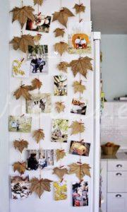 Decoración otoñal con hojas | Woodies