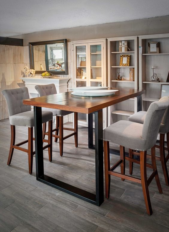 El mueble de moda mesas altas en tu hogar inspiraci n - Mesas cocina altas ...