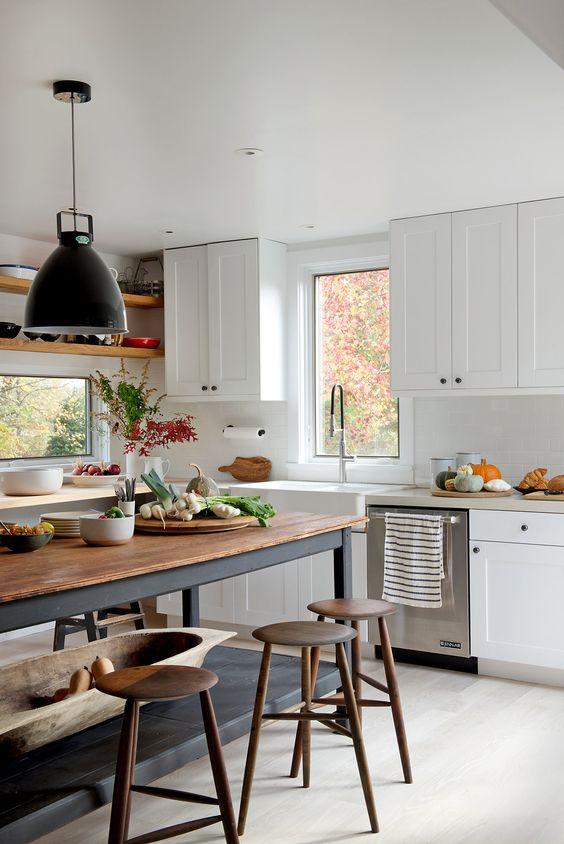 Cómo elegir la mesa de cocina perfecta - Muebles rústicos a ...