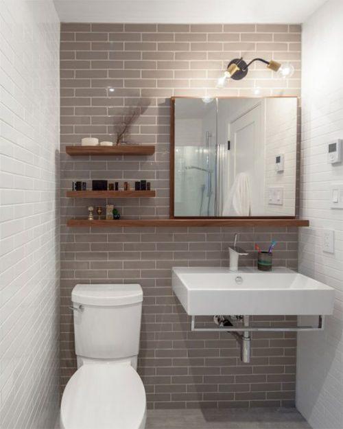 Como Decorar Banos Y Aseos Pequenos Muebles Rusticos A Medida - Fotos-de-aseos-pequeos