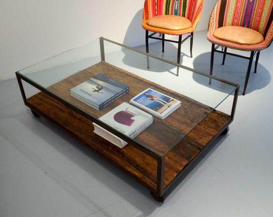 Combina para triunfar mesas de madera y cristal for Mesas de salon de madera
