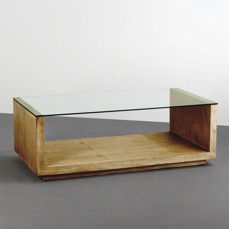 Combina para triunfar mesas de madera y cristal for Mesas de centro madera y cristal