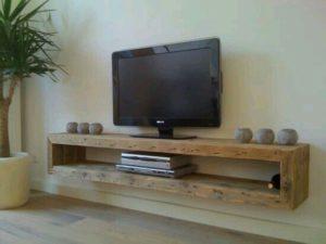 Mueble de televisión de estilo industrial