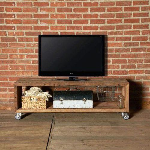 Muebles de televisi n de estilo industrial muebles for Muebles reciclados para un estilo industrial
