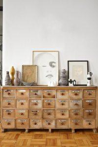 Boticario con cajones como aparador | Woodies