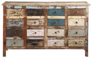 Aparadores de madera decapados con cajones | Woodies