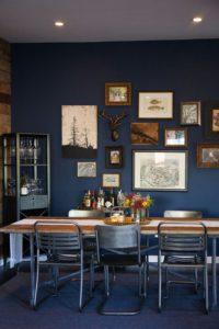 Azul oscuro en despacho | Woodies