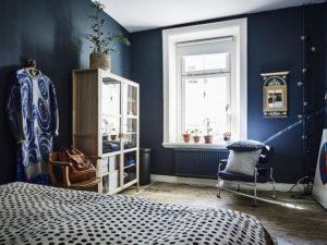 Azul marino en habitación | Woodies