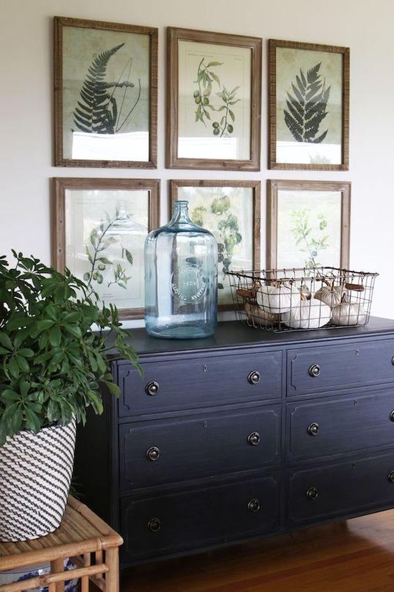 Armario azul oscuro para salón | Woodies
