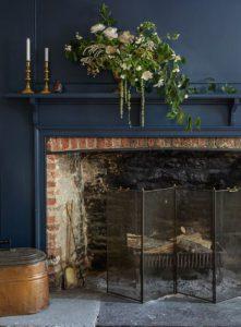 Salón en azul oscuro | Woodies