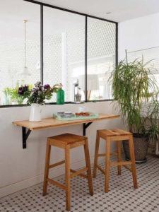 Barra de cocina junto a la pared | Woodies