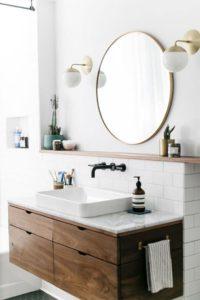 Muebles de baño en blanco y madera | Woodies