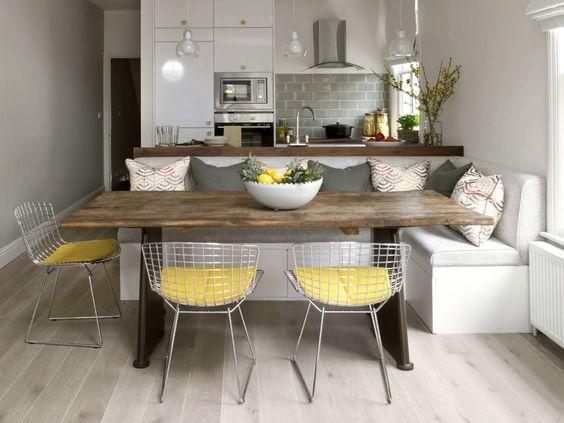 Mesas de comedor para espacios pequeños