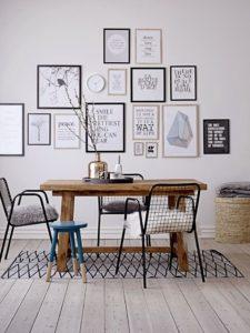 Centros de mesa para mesas de madera