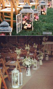 Muebles para bodas rústicas