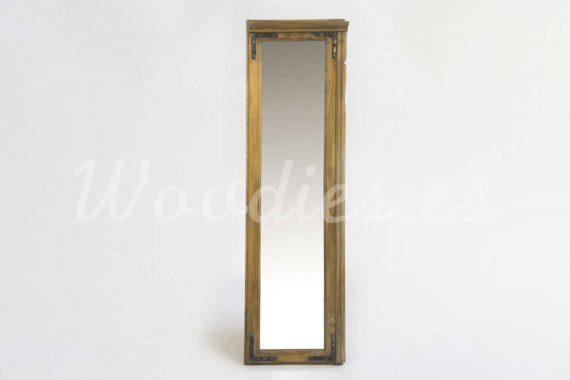 Espejo de madera de woodies