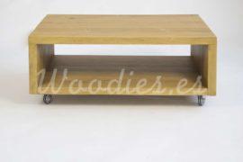 Mesa centro de madera de woodies