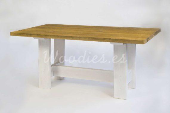 Mea de comedor de madera rustic de woodies