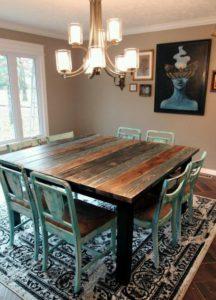 Mesas de comedor cuadradas con madera - Muebles rústicos a medida