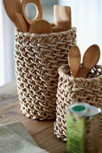 Soluciones de almacenaje con fibras naturales