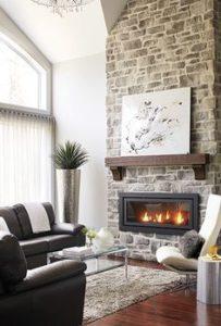 Ideas de decoración con pared de piedra o ladrillo