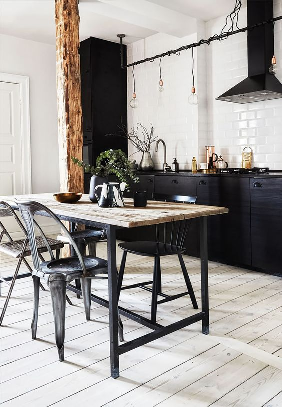 Muebles de cocina oscuros