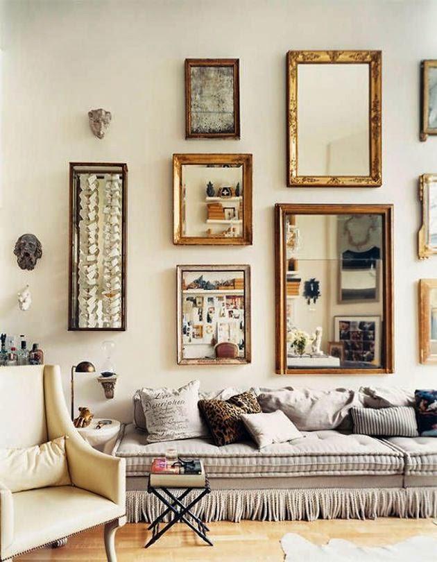 Ideas para decorar con espejos envejecidos