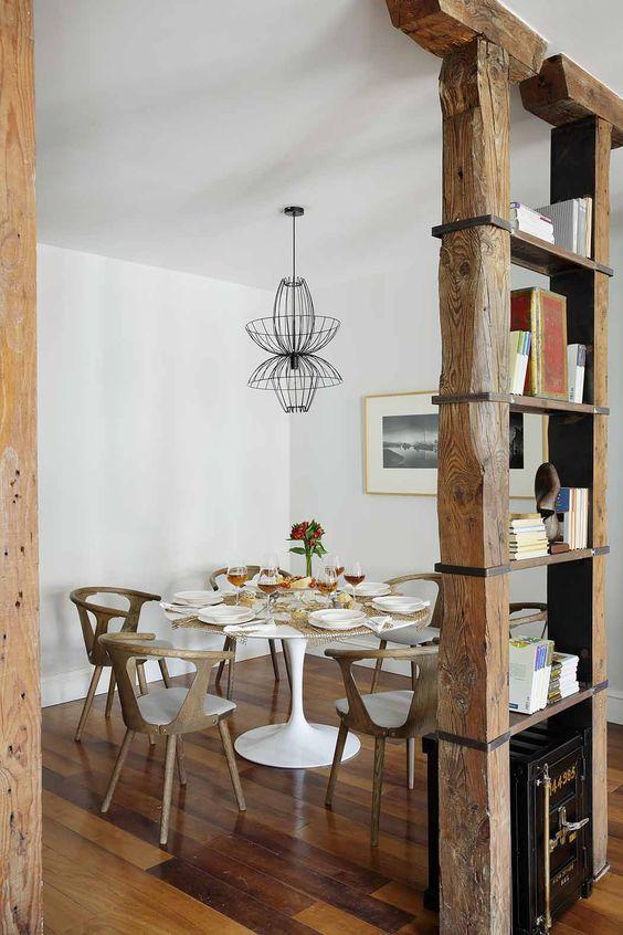 Cómo separar espacios con estanterías