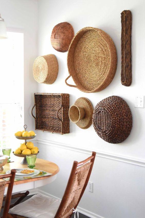 Ideas de decoración con cestas de fibras naturales