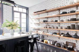 ideas para estanterias abiertas en la pared
