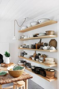 ideas para estanterias abiertas de pared