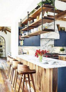 ideas para estanterias abiertas en la cocina