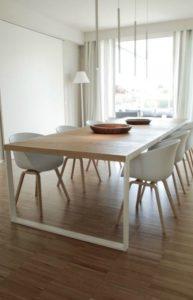decoracion blanca para mesa de comedor