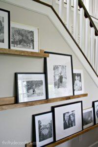 decoración con cuadros y fotografías estilo