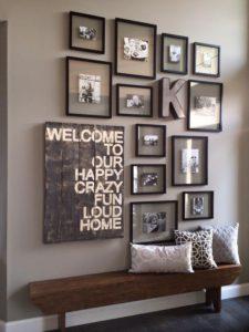 decorar diferentes cuadros y fotografías estilo