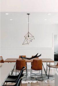 decoracion de madera para mesa de comedor