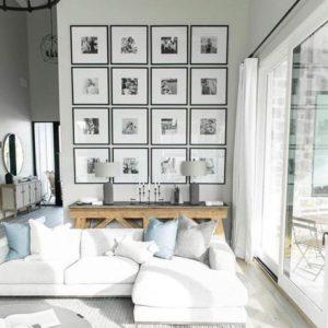 decorar con cuadros y fotografías diferentes con estilo
