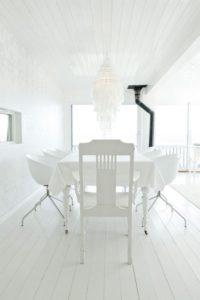 decoración comedores blancos y luminosos