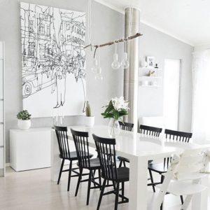Comedores blancos de estilo minimalista